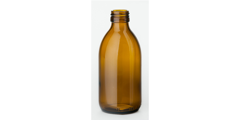 250 ml syrup bottle, amber